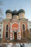 Intercesi katedra w zimie, Izmaylovo nieruchomość, Moskwa, Russ Zdjęcia Stock