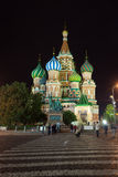 Intercession Cathedral   in night. Moscow, Russia Royalty Free Stock Photo
