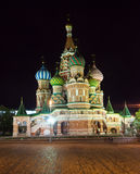 Intercession Cathedral   in night. Moscow, Russia Royalty Free Stock Photography