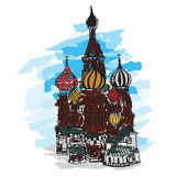 Intercession Cathedral at Red Square. Stock Photo