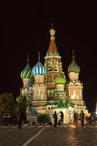 Intercession Cathedral at Red Square in night Stock Photography