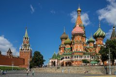 Intercession Cathedral St. Basil's on Red square, Moscow, Russia Royalty Free Stock Photos