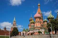 Intercession Cathedral St. Basil's on Red square, Moscow, Russia Stock Photography