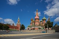 Intercession Cathedral St. Basil's on Red square, Moscow, Russia Royalty Free Stock Photo
