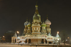 Intercession cathedral St Basils in night Stock Image
