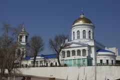 The Intercession Cathedral. Intercession Cathedral in Voronezh, Russia Royalty Free Stock Photo