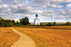 Intercession on the Nerl. Church of the Intercession on the Nerl. Bogolyubovo, Vladimir region, Golden Ring of Russia Royalty Free Stock Photo