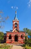 Intercession of Theotokos church (1896). Osechenki, Russia Stock Images