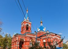 Intercession of Theotokos church (1896). Osechenki, Russia Stock Photography