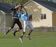 Intercettazione di gioco del calcio Fotografia Stock