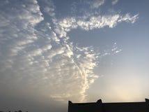 Intercettore della nuvola di mattina fotografia stock