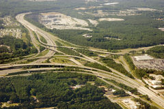 Interchange From Above Royalty Free Stock Photos