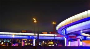 Interchange. City interchange at night. Leningradskiy mainroad, Moscow, Russia Royalty Free Stock Photos