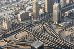 Aerial view interchange Dubai Stock Photo