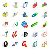 Interchange icons set, isometric style. Interchange icons set. Isometric set of 25 interchange vector icons for web isolated on white background Royalty Free Stock Images