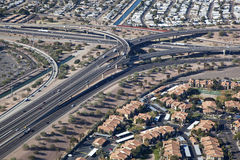 Interchange of Interstate 10 and U.S. Route 60 Royalty Free Stock Photos