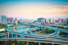 Interchange overpass Royalty Free Stock Images