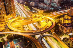 Interchange road closeup Royalty Free Stock Images