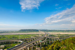The interchange system of highway Royalty Free Stock Photo