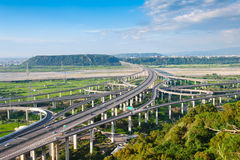 The interchange system of highway Royalty Free Stock Image