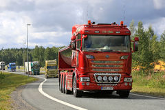 Interchangeable Scania R560 Truck The Stallion in Convoy Stock Photo