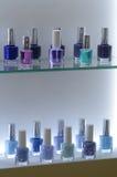 Intercharm XII国际香料厂和化妆用品陈列莫斯科秋天指甲油珠色树荫 库存图片