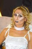 Intercharm XII Międzynarodowa mydlarnia i kosmetyka Moskwa powystawowej jesieni anioła Młody żeński spojrzenie Fotografia Royalty Free