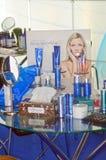 Intercharm XII Międzynarodowa mydlarnia i kosmetyka Moskwa Powystawowej jesieni Szklany stolik do kawy z sposobami dla ciała dbam Obraz Stock