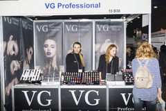 Intercharm XVI International exhibition of professional cosmetics and equipment for beauty salons Royalty Free Stock Photos