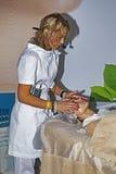 Intercharm XVI zawody międzynarodowi wystawa fachowi kosmetyki i wyposażenie dla piękno salonów Zdjęcia Stock