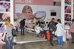 Intercharm XVII zawody międzynarodowi wystawa fachowi kosmetyki i wyposażenie dla piękno salonów Obrazy Royalty Free