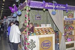 Intercharm XVII zawody międzynarodowi wystawa fachowi kosmetyki i wyposażenie dla piękno salonów Zdjęcia Royalty Free