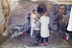 Intercharm XVII zawody międzynarodowi wystawa fachowi kosmetyki i wyposażenie dla piękno salonów Zdjęcie Royalty Free
