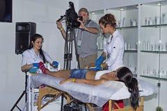 Intercharm XVII zawody międzynarodowi wystawa fachowi kosmetyki i wyposażenie dla piękno salonów Fotografia Stock