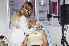 Intercharm XVII zawody międzynarodowi wystawa fachowi kosmetyki i wyposażenie dla piękno salonów Obraz Royalty Free