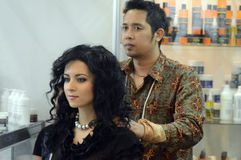 Intercharm XXI International Perfumery and Cosmetics Exhibition Massages before shearing Royalty Free Stock Image