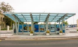 Intercity λεωφορείο στάσεων σε Burgas, Βουλγαρία στοκ φωτογραφίες με δικαίωμα ελεύθερης χρήσης