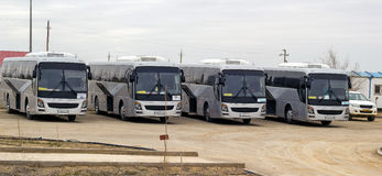 Intercity λεωφορείο στοκ φωτογραφία