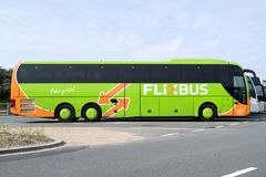 Intercity λεωφορείο Flixbus στοκ εικόνες με δικαίωμα ελεύθερης χρήσης