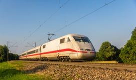 Intercity σαφές τραίνο σε Offenburg, Γερμανία στοκ εικόνα