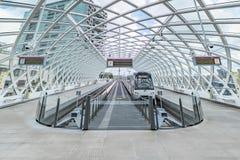 Intercity σταθμός τραμ Mordern στοκ εικόνες