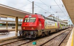 Intercity τραίνο Λισσαβώνα - Πόρτο Στοκ εικόνα με δικαίωμα ελεύθερης χρήσης