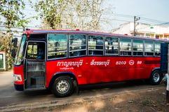 Intercity bus Kanchanaburi - Sangkhlaburi Stock Photos