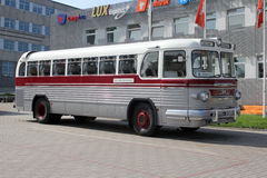 The intercity bus of old model in Tallinn Stock Photography