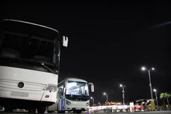 Intercity buses at the station Stock Photography