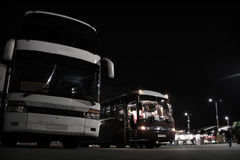 Intercity buses at the station Royalty Free Stock Photo