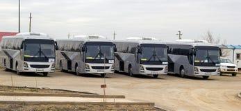 Intercity buss arkivbild