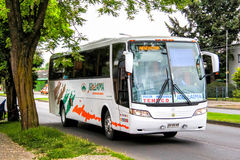Intercity lagledare Busscar royaltyfri fotografi