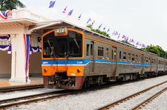 Intercity train in Bangkok stock photos