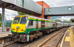 Intercity train at Belfast Central railway station Stock Photo